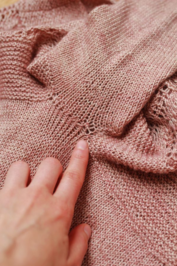 Holes under the arm in the Lea sweater