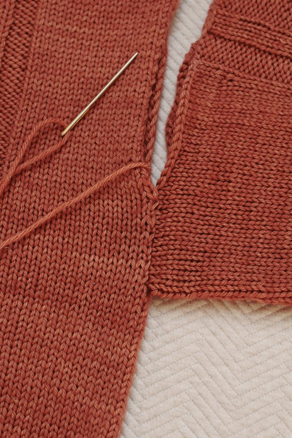 Seam along the sleeve and body